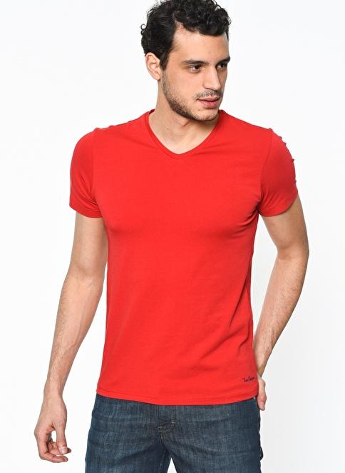 Lee Cooper V Yakalı Tişört Kırmızı